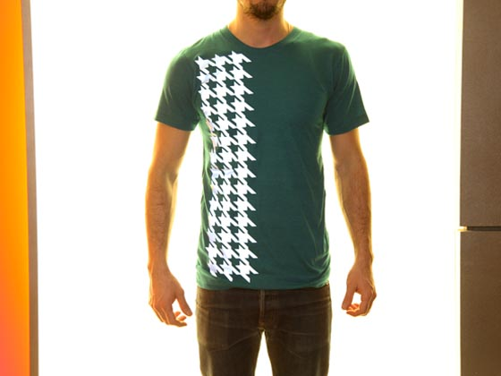 Houndstooth printed T-shirt