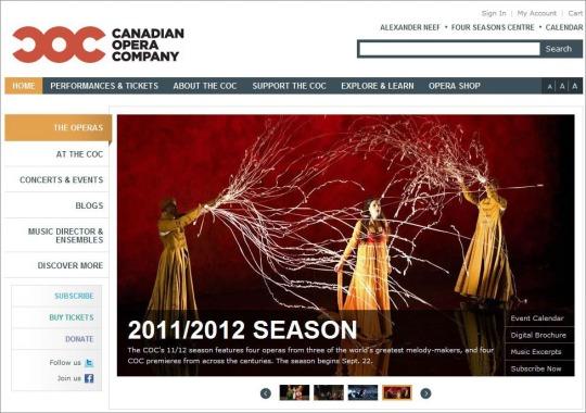 Canadian Opera Company website