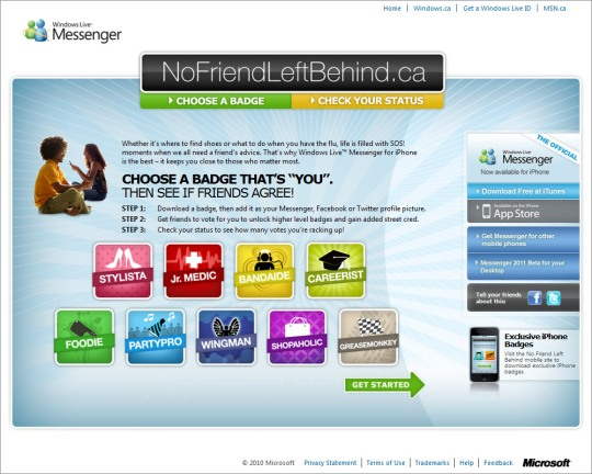 No Friend Left Behind microsite