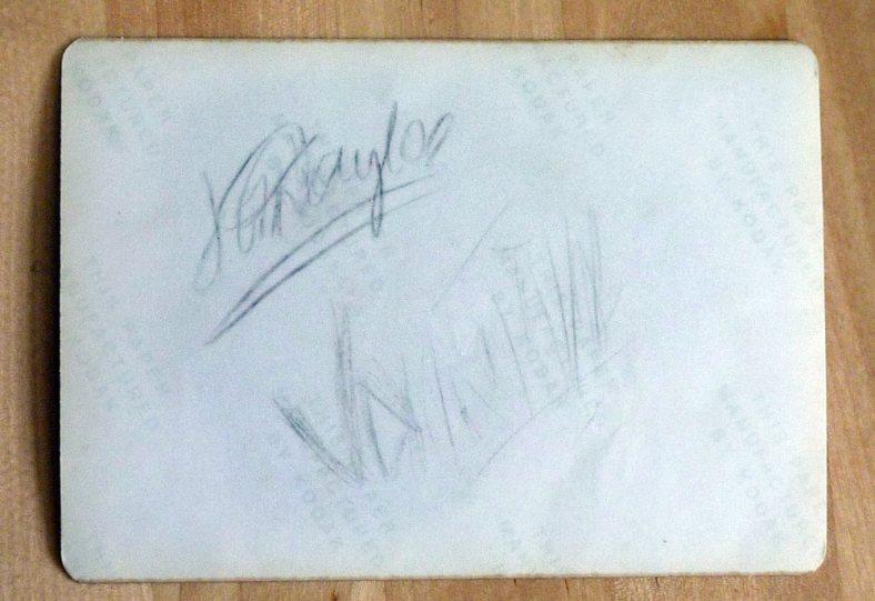 Signing it John Taylor