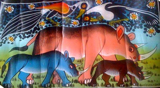 Tinga Tinga - Rhinos and birds