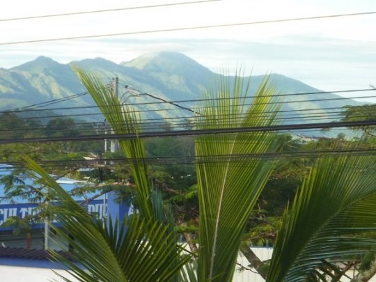 View from my room window and home-away-from-home in Puriscal, Costa Rica