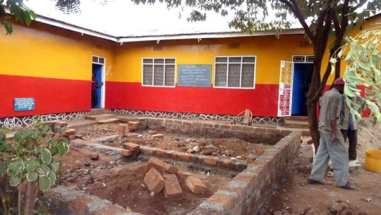 The colourful but humble nursery school (Jiendeleze) in Moshi, Tanzania where I did my second volunteer placement.