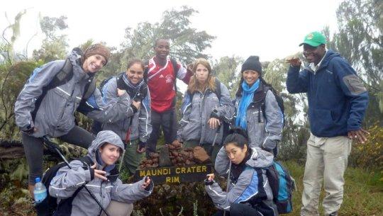 Hiking up Mount Kilimanjaro