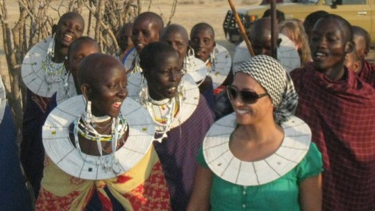 Being Welcomed into a Masai village in Tanzania