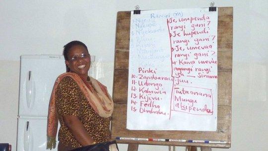 Asteria our Swahili teacher