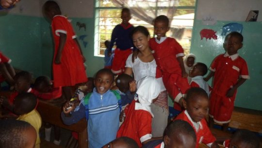 My last day teaching at Jiendeleze nursery in Moshi Tanzania