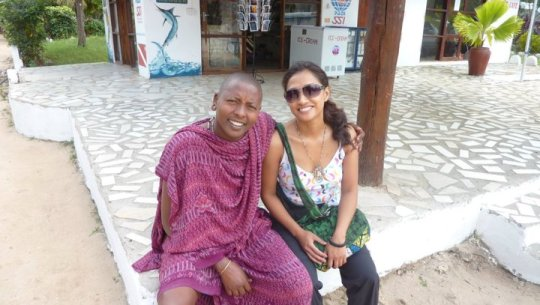With Leonard, a Maasai from Ngorongoro finding work in Zanzibar.