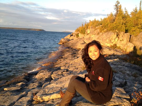 In my happy place in Tobermory. Good luck with your Divemaster Internship!